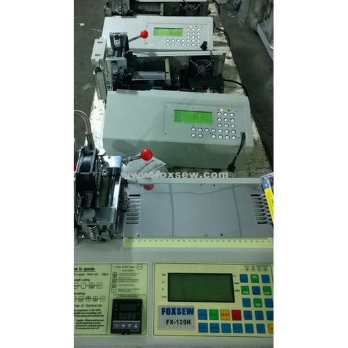 Automatic Woven Tape Cutting Machine Hot Knife with Two Line
