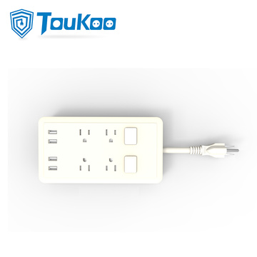US 4-outlet power strip with 4 USB ports
