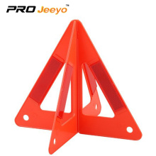 Double-sided plastic warning triangle notice sign