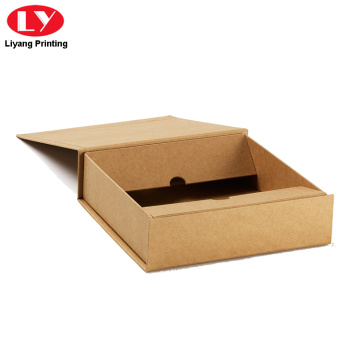 Brown Paper Box Kraft Cardboard Magnetic Lid
