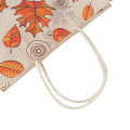 Colourful Handle Autumn Fancy Paper Bags Packaging GiftBag