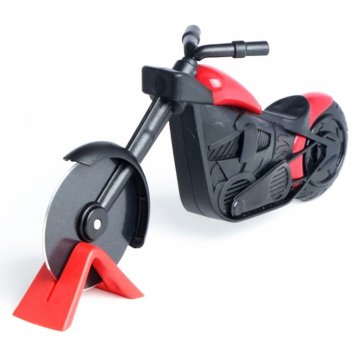 Pizza Cutter Motorbike Kitchen Gadget Present With Stand