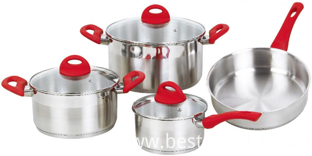 Cookware Set with Rubber Handles