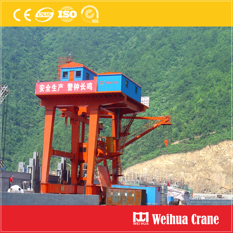One Way Dam Top Gantry Crane