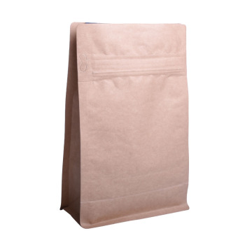 Biodegradable Kraft Paper 12oz Box Bottom Coffee Bag