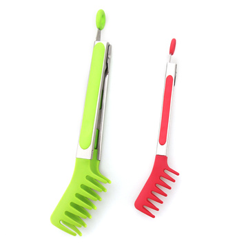 9/7nch Rubber Soft Handle Nylon Spaghetti Tongs