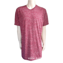 91% polyester 9% cotton men's short sleeve t-shirt