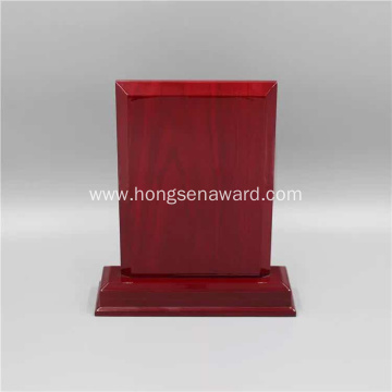 Square red wooden engravingplaque