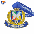 Enamel paint football team award medal