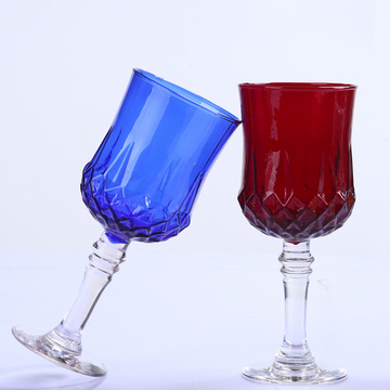Handmade Colorful Glass Goblet Tumbler Cup Made Of Lead Free Crystal Glass