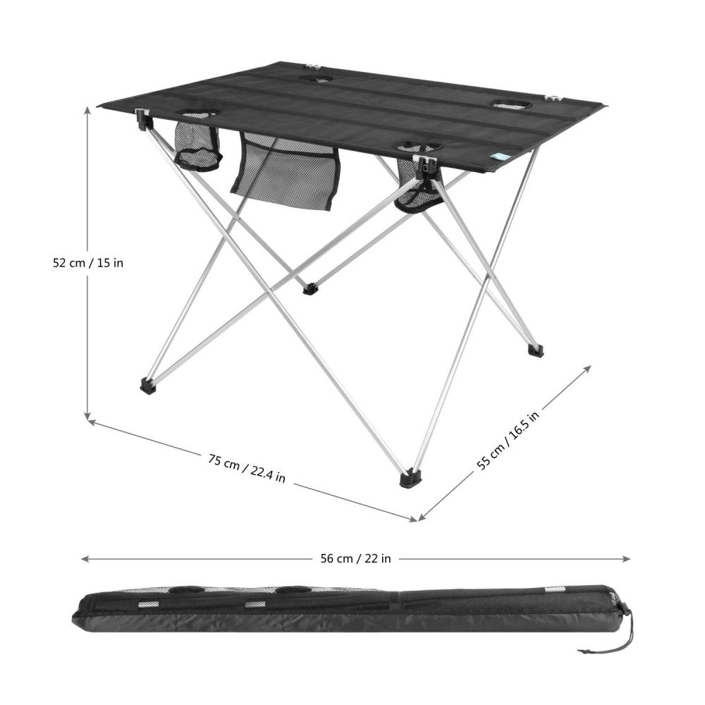 Lightweight Folding Table With 4 Cup Holders Yyz02 1 2