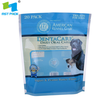 Compostable Packaging Pet Snack Food Bag With Window