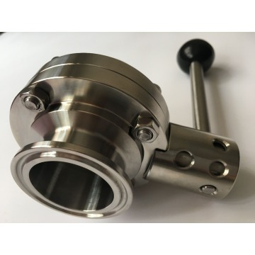 Freeshipping 1Pcs SS304 Stainless Steel Sanitary Tri Clamp Butterfly Valve Homebrew Beer Dairy Product