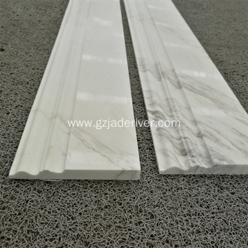 Cheap Price White Volakas Marble Flooring Border Stone