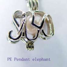 Wish Love Pearl Elephant Cage Pendant