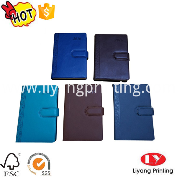 PU notebook with magnet