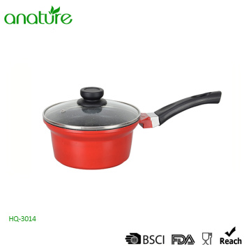 Die Casting Glass Lid Bakelite Handle Sauce Pan