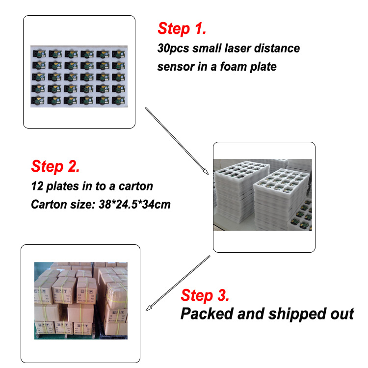 How to package your 100m laser distanc sensor?