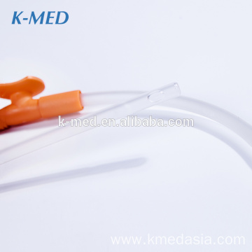 Disposable closed thumb control suction catheter tube