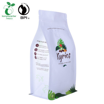 Corn Starch Biodegradable white kraft food packaging coffee Bag
