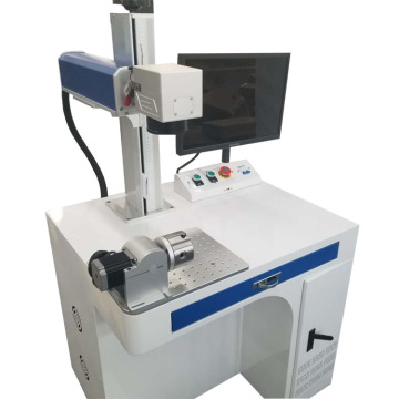 Desktop 50w Metal Fiber Laser Marking Machine Price With Rotary