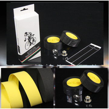 EVA yellow-black Bicycle 1.8m Handlebar Tape