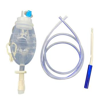 Silicone Suction Reservoir Wound Drainage kit with tube