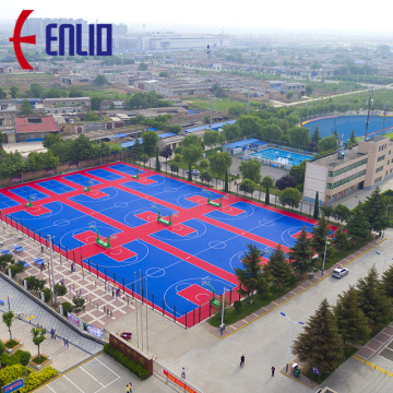 Interlocking Sports Flooring Basketball Court Tiles