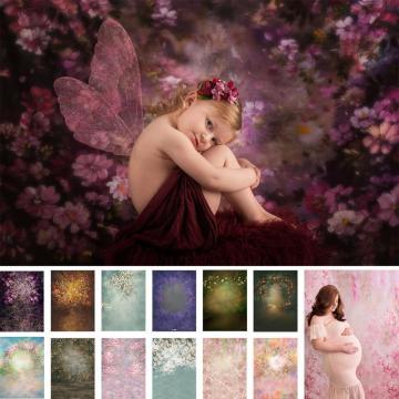 Vintage Flower Photography Backdrop Newborn Baby Children Maternity Artistic Portrait Background Photo Studio Prop