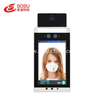 Living Temperature Camera Detector Face Recognition Terminal