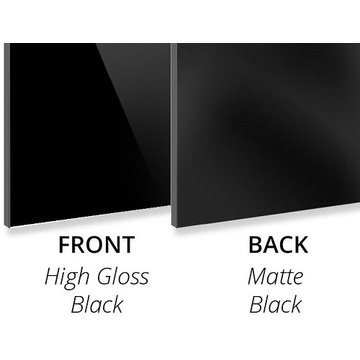 3MM High Gloss Black/Matte Black Aluminium compositec panel