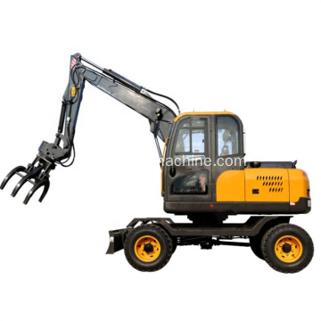 High Quality Hydraulic Grapple 8.5Ton Wheel Excavator