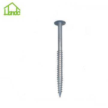 Steel Ground Screw Anchors for Pv Mounting