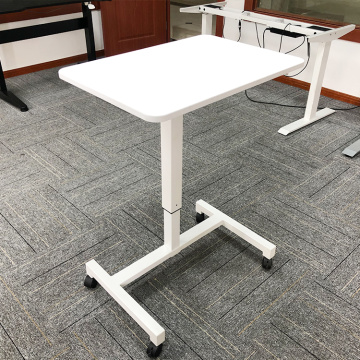 Pneumatic Height gas Adjustable Standing Desk One Leg