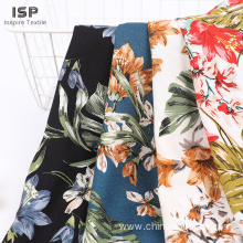 Stock woven moss crepe printed rayon fabric