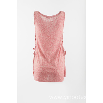 Girls summer hot tank with string side