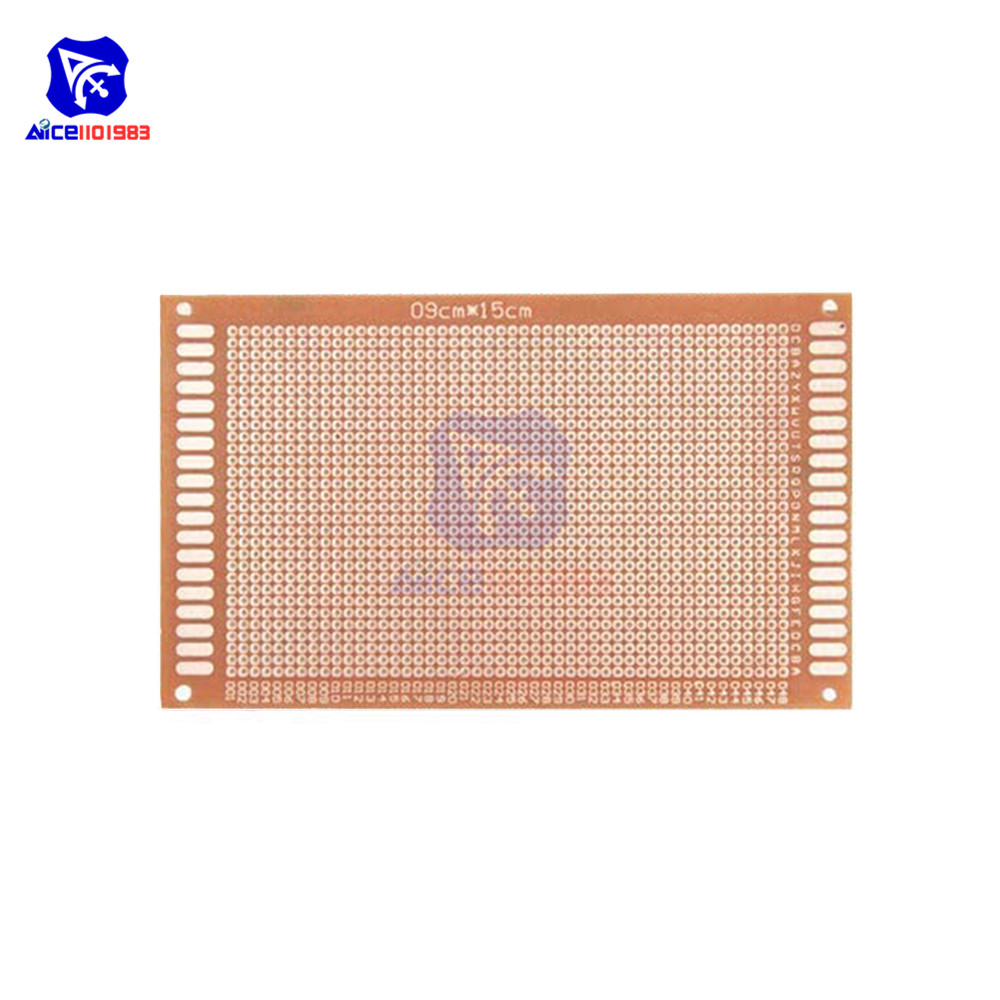 diymore 9 x 15cm Single Side Universal Prototype PCB Print Circuit Board 1.2mm Thickness 2.54mm Hole Pitch