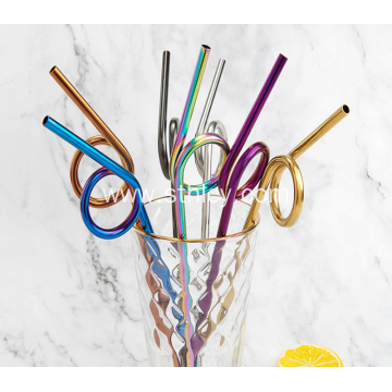 304 High Quality Shaped Stainless Steel Decorative Straw