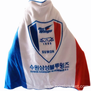 Korean winter season football club flag fleece blanket