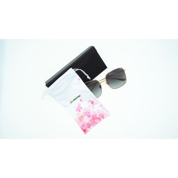 Customer print felt material soft pouch eyeglasses bag