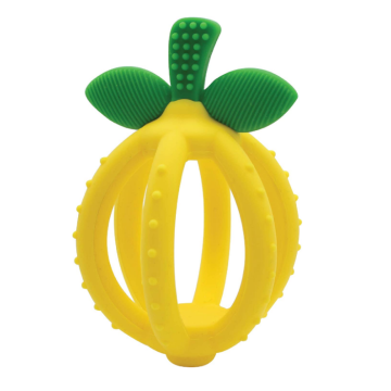 Lemon-Shaped Silicone Teething Ball Training Toothbrush