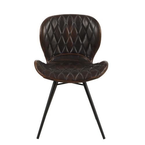 European market PU leather dining chair