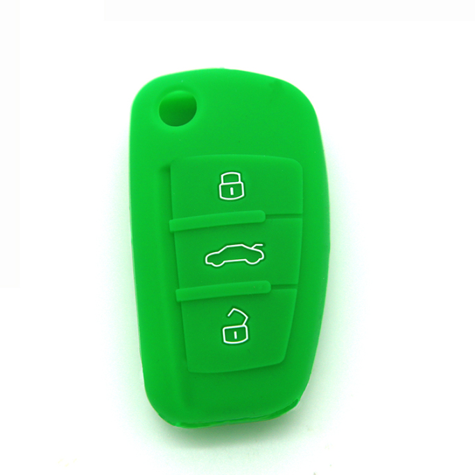 Audi logo silicon car key case