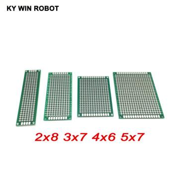 4 pcs 2x8 3x7 4x6 5x7 cm double sided Copper prototype pcb Universal Board