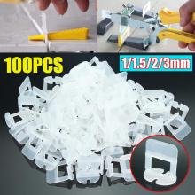 100pcs Wedges Clips Plastic Ceramic Surface Smoothness Improving Placement Speed Tile Leveling System Locator Flooring Tools