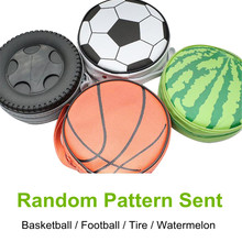 Watermelon/Football/Tyre CD Case Portable Carry CD Holder Earphone DVD Storage Box Large Capacity Wallet Cover Bag Case 40 Discs