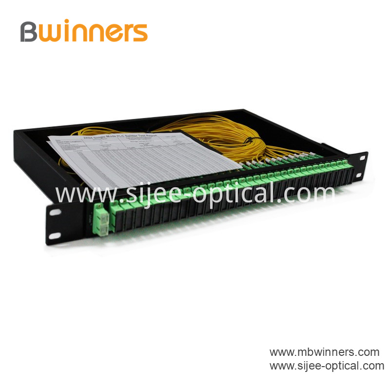 Rack Mount 2x64 Plc Splitter With Sc Apc Connector