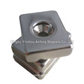 Neodymium Drilled Block Magnets 20x20x5 (¢8.6X4.5)mm