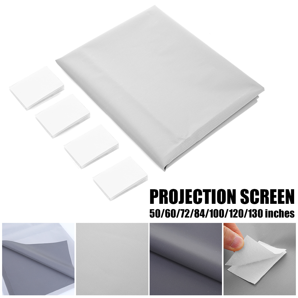 UNIC Universal 16:9 Projection Screen 50 72 84 100 120 130 inch Reflective Fabric For Epson BenQ XGIMI LCD DLP Projector 4K