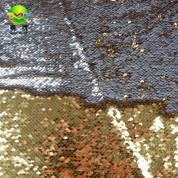 Hot sale reversible sequin embroidery fabric 2021